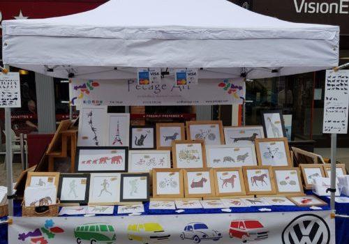 Pecage Art Market Stall