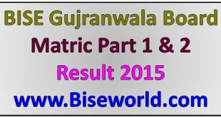 Gujranwala Board 9th 10th Class Result 2015