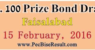 Online Rupees 100 Prize Bond Lucky Draw Result 2016