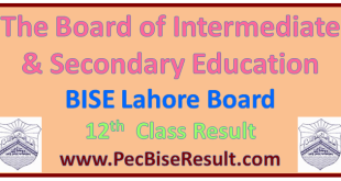 Lahore Inter Part2 Result 2016