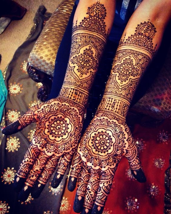 Full Hand to Arm Beautiful Henna Design 2017