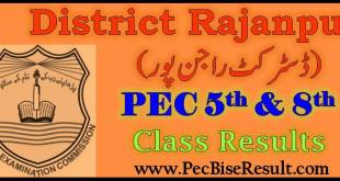 PEC 5th and 8th Class Result 2018 Rajanpur