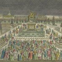 Avant la Concorde et l'obélisque, la place Louis XV