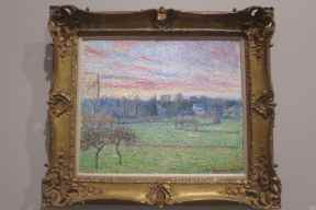 Camille Pissarro, Vue de Bazincourt, ciel rouge, 1893, collection privée, Dallas.