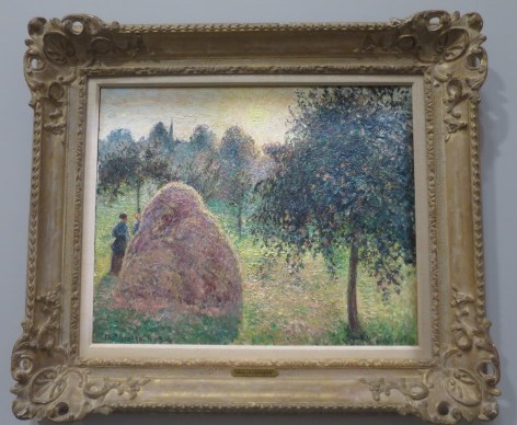 Camille Pissarro, La Meule, soleil couchant, Eragny, 1895, Collection Wilf, Etats-Unis.