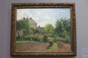 Camille Pissarro, Le jardin d'Eragny, 1898, The National Gallery of Art, Washington.