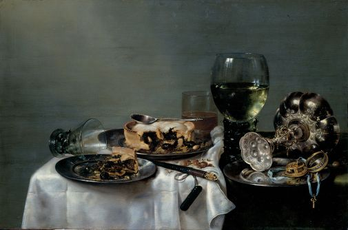 Willem Claesz. Heda, Nature morte avec Blackberry Pie, 1631, Gemäldegalerie Alte Meister