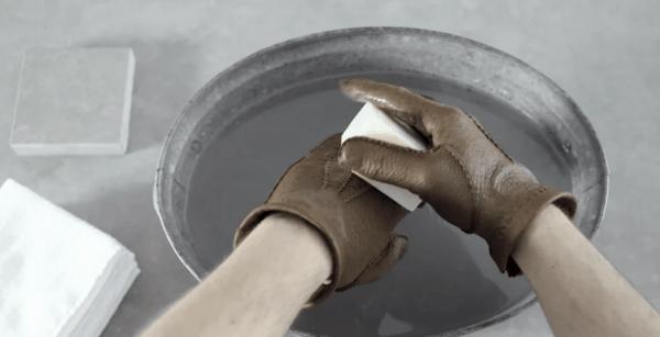 pflege von peccary-lederhandschuhen