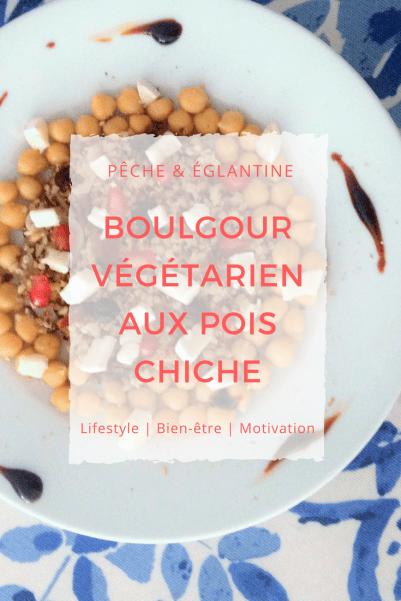 Boulgour végétarien sucré-salé aux pois chiche - Pêche & Eglantine