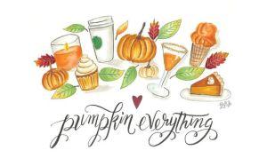 Fond d'écran automne Pumpkin everything