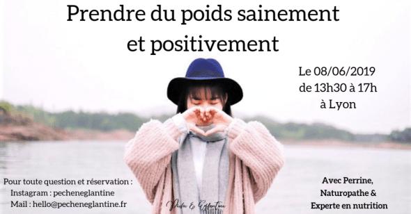Atelier prise de poids saine et positive - Lyon 8 juin