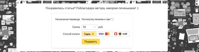 Яндекс.деньги - готовая форма на сайте