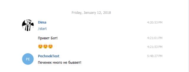 api telegram bot сообщение в чате