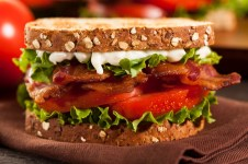 Fresh Homemade BLT Sandwich with Bacon Lettuce and Tomato