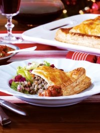 Tourtiere on a plate