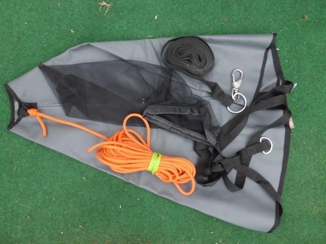 montage ancre flottante avec corde de rappel