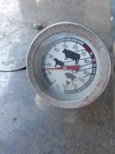thermomètre à sonde pour fumoir