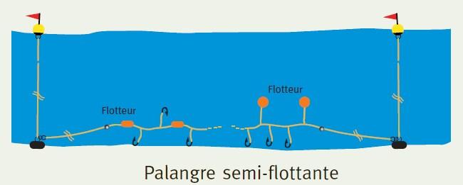 palangre semi-flottante