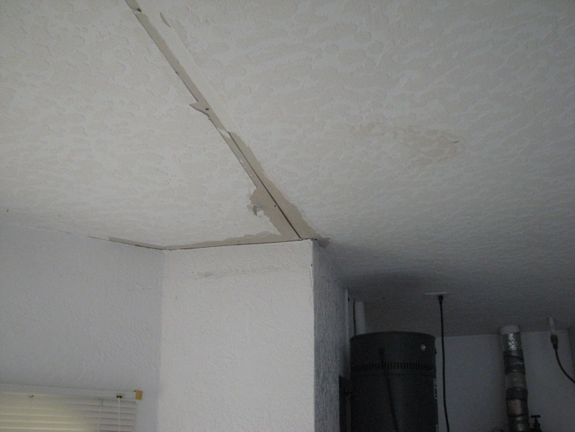 how to fix water damaged ceiling texture