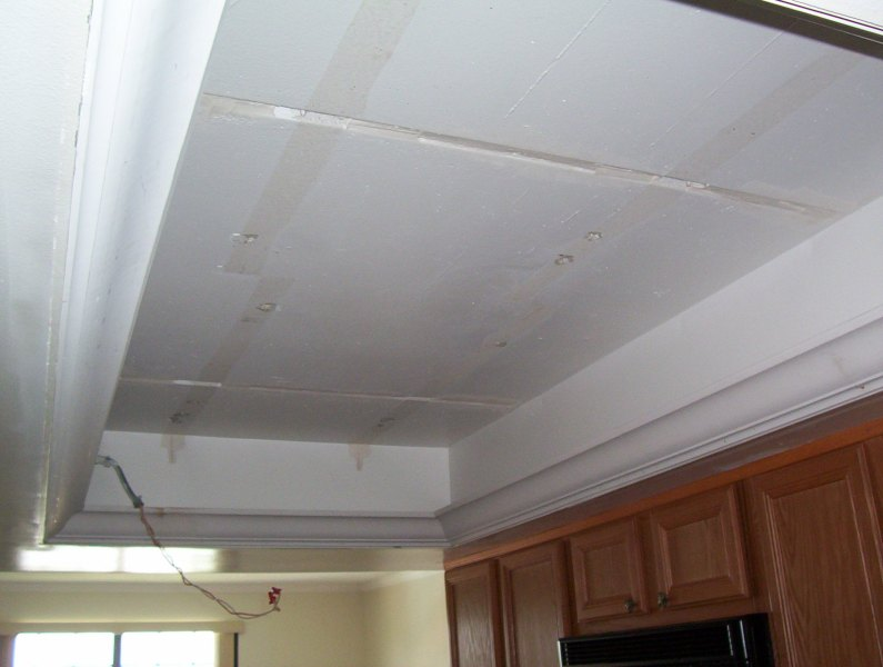 What to do with my old kitchen drop ceiling lighting  Kitchen Remodel Kitchen ceiling light removed
