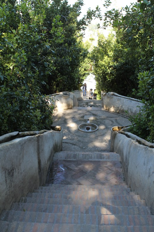 Even the hand rails of these steps had water running down each side with occasionally eddies built in so you could scoop water out to cool yourself. Very neat.