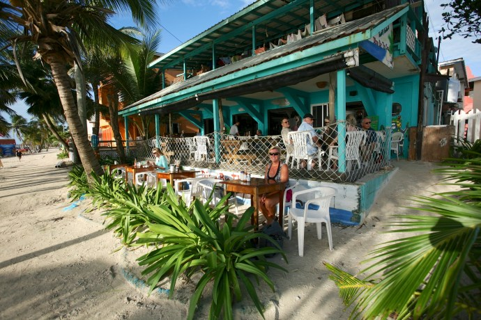Day trip to Caye Caulker. Breakfast at Estel's.