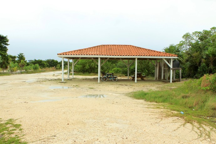 Covered picnic area.