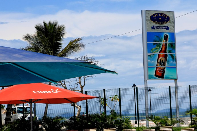 San Lucas Beach Club. Located right at the end of the peninsula in Puntarenas.