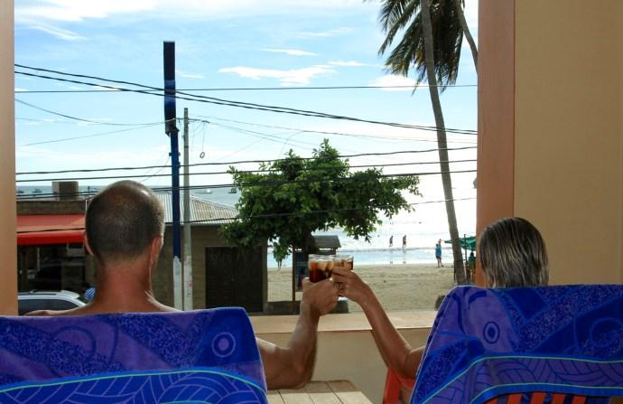 Despite the noisy bar and pesky pedlars we truly miss main street San Juan del Sur.