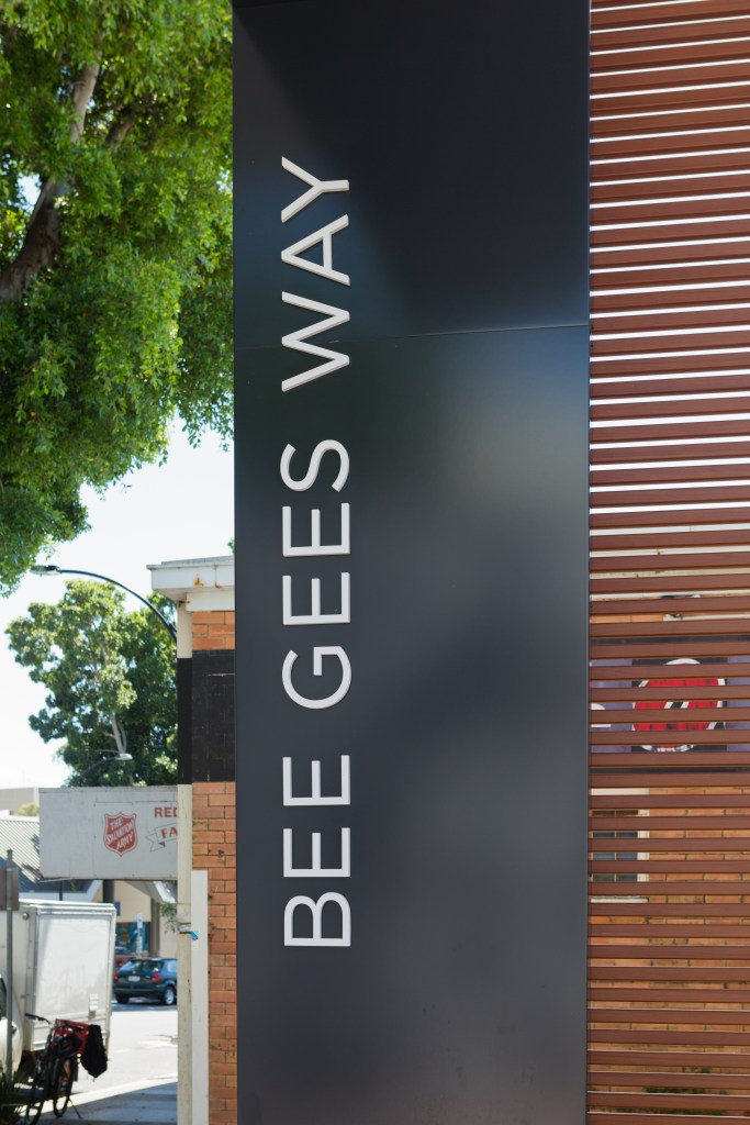 The entrance to a short lane dedicated to some of the most famous residents of Redcliffe, Queensland.