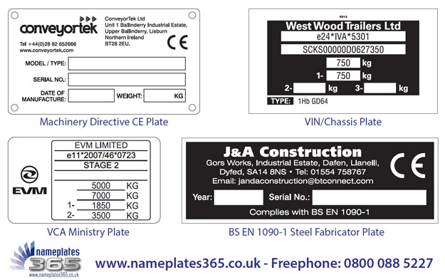 CE Marking And Rating Plates Manufactured To Order | PECM