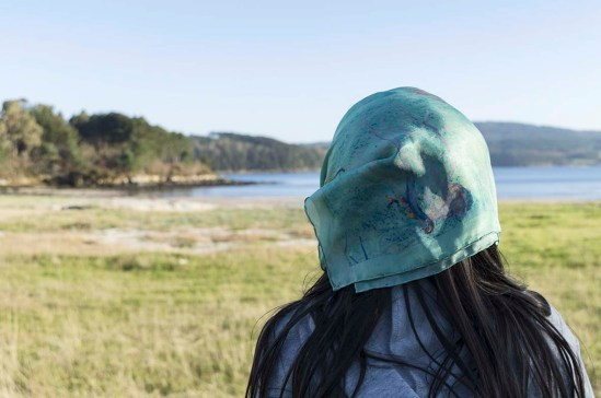 SILK SCARF ALGAE SEA