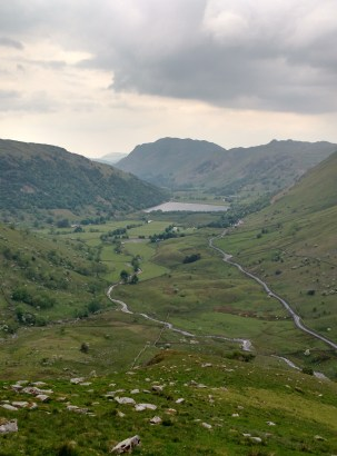 View down the Kirkstone Pass, after paddling Windermere