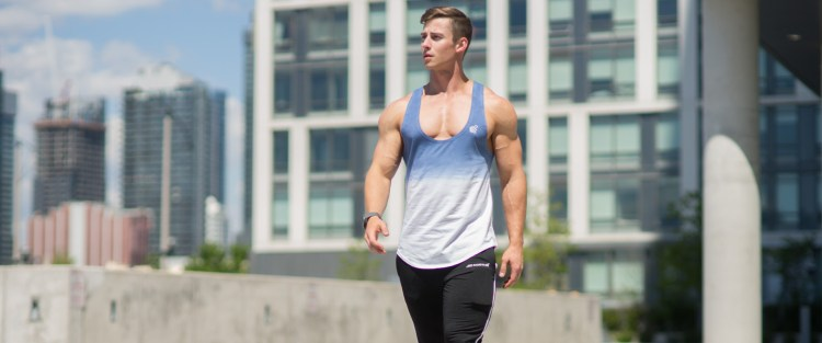 Tyson Dayley at Jed North Apparel in tank top