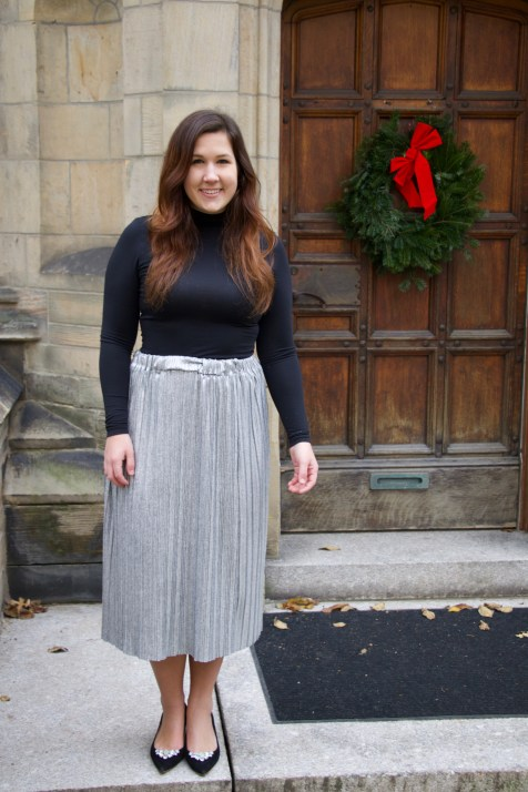 Metallic Skirt for the Holidays