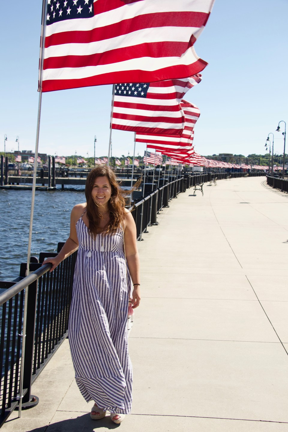 Linen Maxi Dress - New London 4th of July