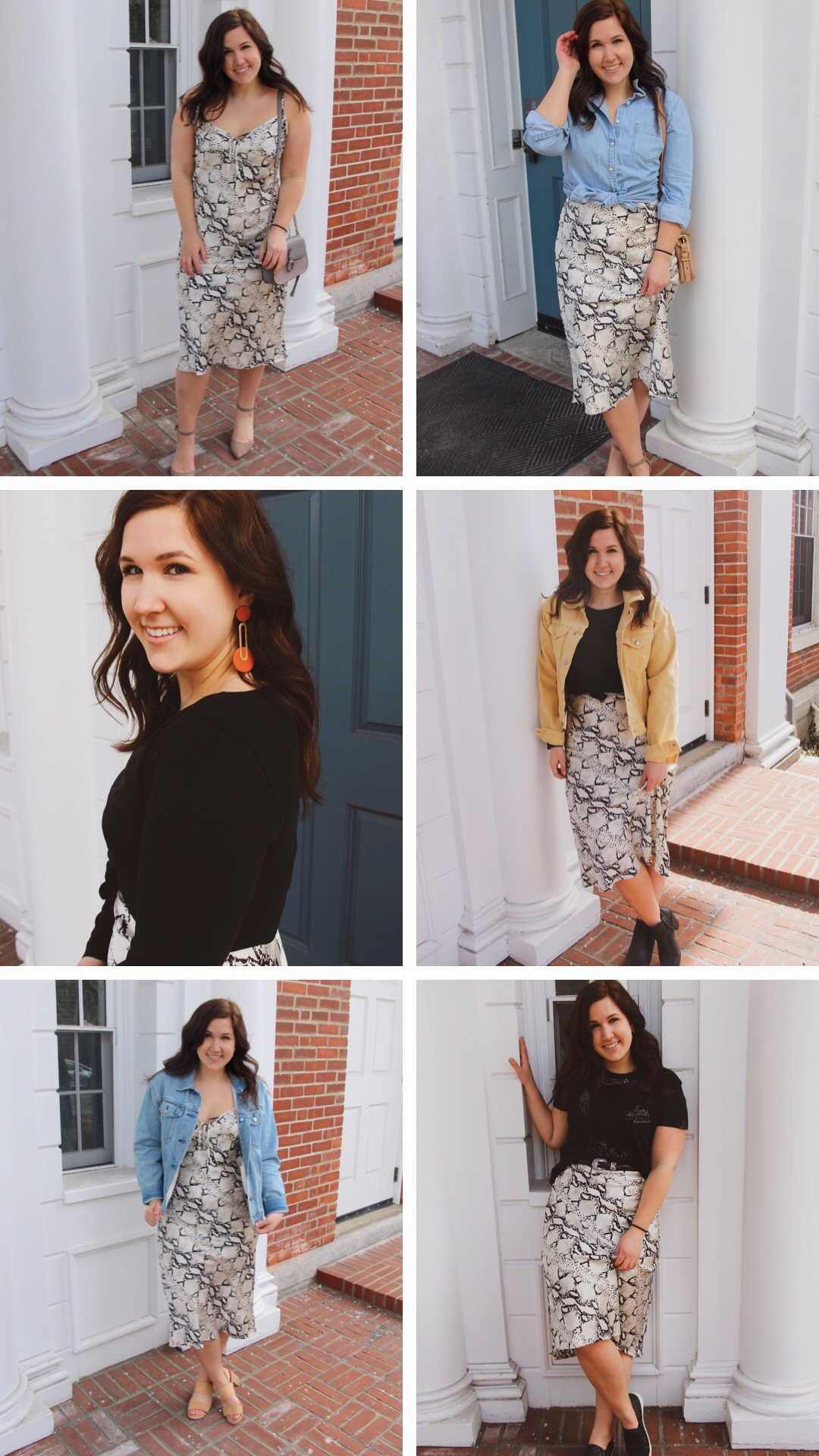 6 Ways to Wear a Snake Skin Midi Dress