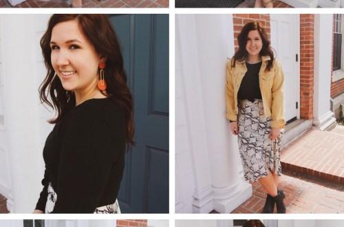 6 Ways to Wear a Snake Skin Midi Dress