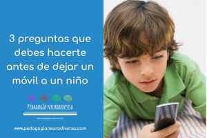 tres cosas a tener en cuenta antes de dejar el móvil a tu hijo