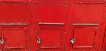 Backside of the letter box