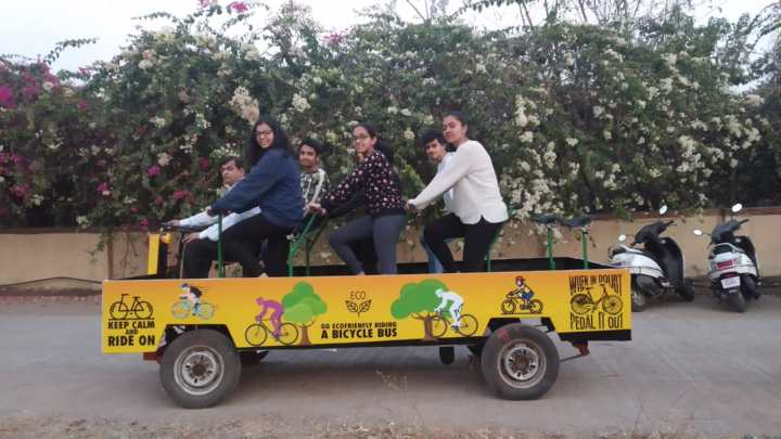INDIA GETS IT'S FIRST BICYCLE BUS