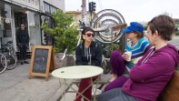 The day began at the 40th St Parklet..