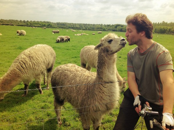 Tim bonding with the locals