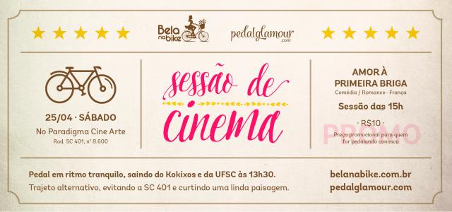 Sessão de Cinema com Bela na Bike e Pedal Glamour