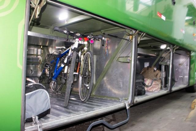 Bicicletas devidamente prontas para seguir viagem