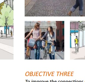 The only picture in the Master Plan that shows people using bicycles is this one - and these women are not even riding them!