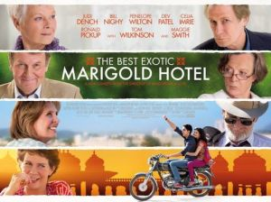 The-best-exotic-marigold-hotel movie poster - no helmets on motorcycle riders