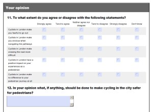The questions in the Guide Dogs survey were supplied but not the answers. Click to read the full survey (pdf document)