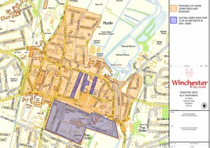 The existing 20mph limits have been extended to cover the entire city centre of Winchester as of 18 August 2014.