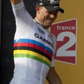 Thor Hushovd (Nor) Team Garmin-Cervelo early success at the Tour. [P] Slipstream Sports